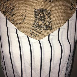Tops - Striped black/white top